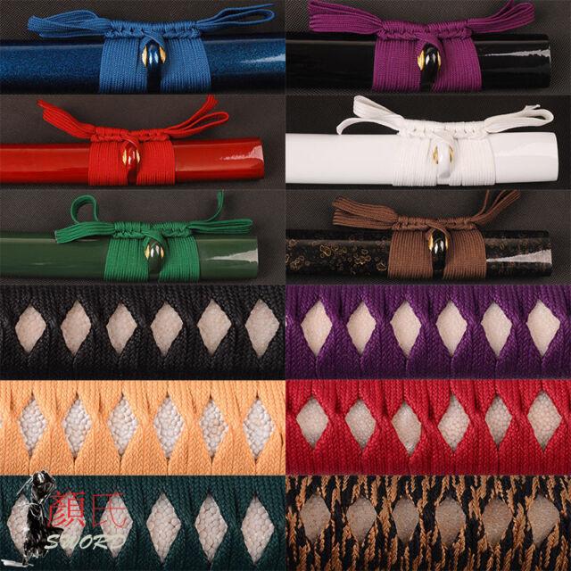 Synthetic Silk Ito Sageo1-20 for Japanese Samurai Katana Wakizashi Tanto sword