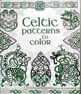 Image Is Loading Usborne Celtic Patterns To Color Paperback Art