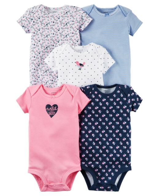 Carters Baby Girl Set 5 Piece Bodysuit With Tag  3 Month