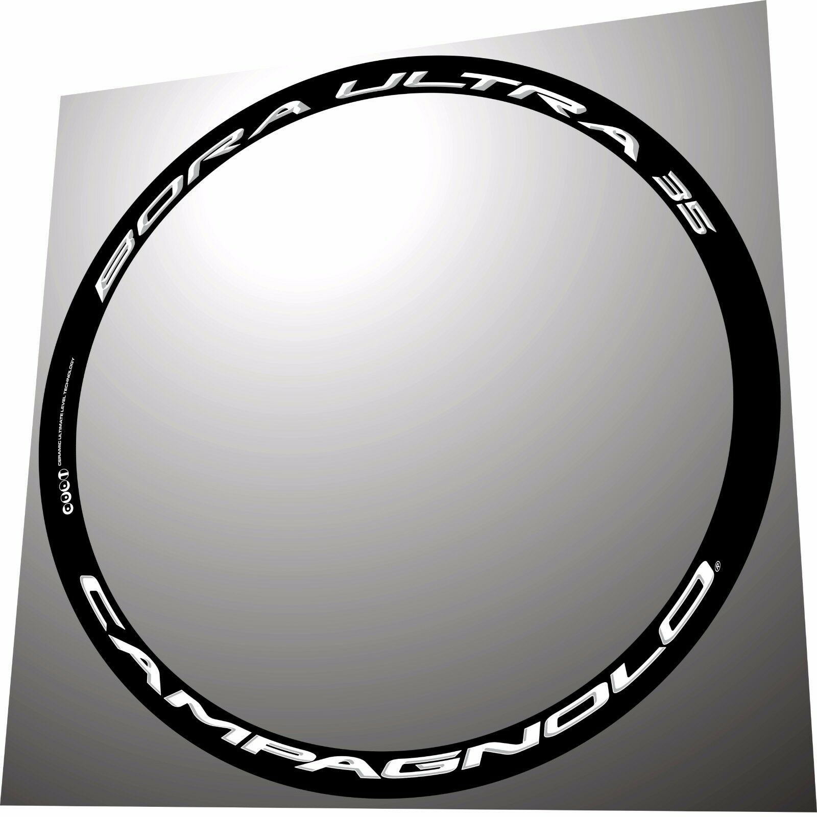 CAMPAGNOLO BORA ULTRA 35 3D ALL WHITE 3D REPLACEMENT RIM DECAL SET FOR 2 RIMS