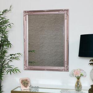 Dettagli su Oro Rosa Specchio da Parete Shabby Chic Soggiorno Sala Salone  Boutique Display