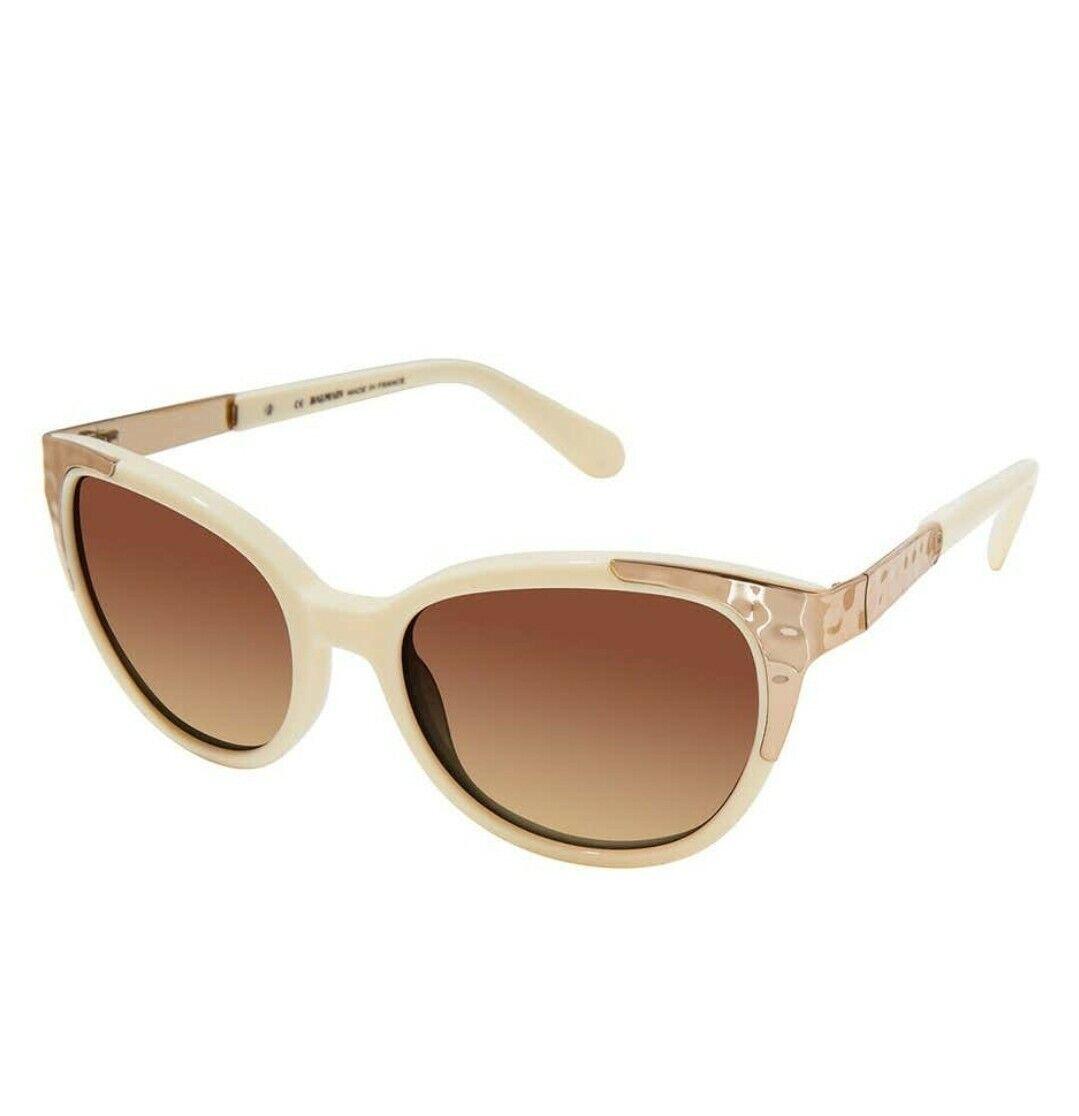 *NWT* Balmain {MSRP } 53mm White/Silver Cat Eye Sunglasses