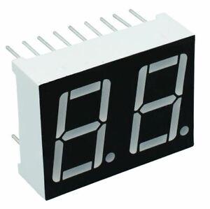2-X-Gruen-1-4cm-2-Digit-Sieben-Segment-Display-Anode-LED
