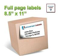 100 Universal Labelsâ® - Full Page Shipping Labels - Heavyweight Label That Will