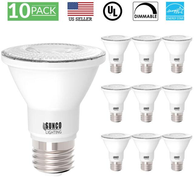500lm 4 x PARMIDA 7W PAR20 LED Spot Light Bulb Dimmable 50W Equiv ES//ETL//FCC