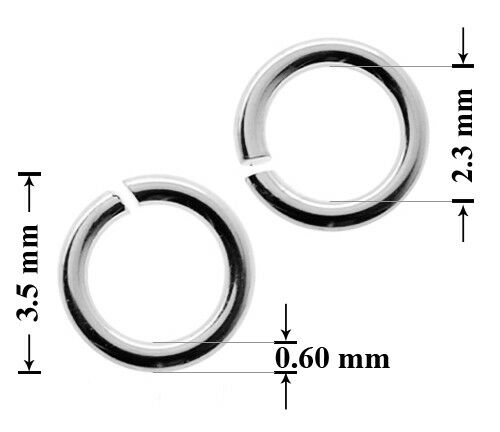 Many sizes Jewellery making findings Sterling Silver 925 Open Jump Rings