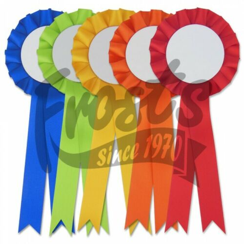 100 x Blank Printable Rosettes 32 blank rosette colours to choose from