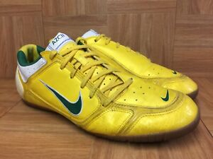 RARE-Nike-Air-Zoom-Control-AZC-II-Brazil-Gold-Green-Gum-Sz-12-VNTG-INDOOR-Shoe
