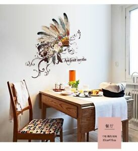 Native American Feather Wall Art Stickers Creative Living Home Decoration Ebay