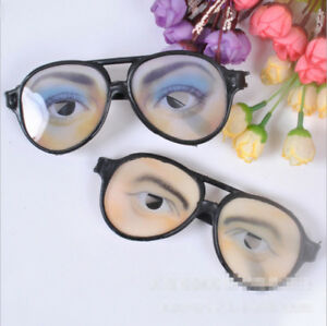 Details about Funny Fake Eye Glasses w/ Big Frame Joke Fancy Dress  Halloween Party Decors