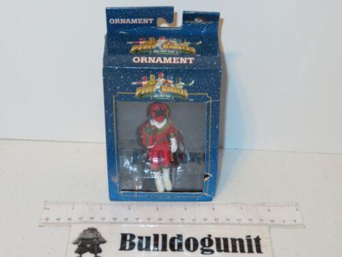 Vintage New Power Rangers Zeo Red Ranger Figure Christmas Tree Ornament Figurine