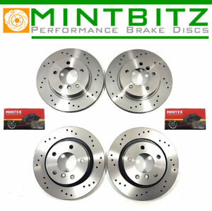 Mercedes-CL55-AMG-C215-00-02-Front-Rear-Brake-Discs-amp-Mintex-Pads-Drilled-Only