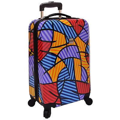 "US Traveler Fashion Art Print 21"" Carry-on Hardside Spinner Luggage Suitcase Bag"