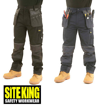 Gutherzig Site King Heavy Duty Cargo Holster Pocket Work Trousers With Knee Pad Pocket 008