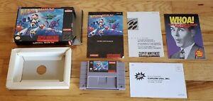 Mega-Man-X-1-Super-Nintendo-SNES-Video-Game-CIB-Complete-Box-Manual-lot-TESTED