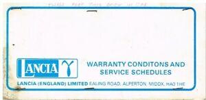 LANCIA-GAMMA-2500-SALOON-ORIGINAL-1978-SERVICE-RECORD-BOOKLET