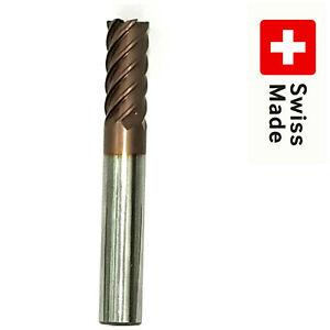 FRAISA-SWISS-VHM-End-Mill-Solid-CARBIDE-12mm-6-FLUTE-Schaftfraser