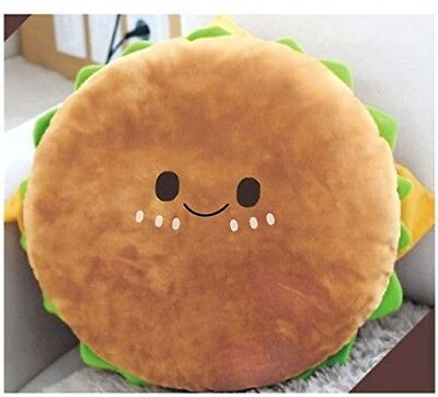 Tinksky Hamburger Plush Cushion Yammy Food Toy Stuffed Cotton Throw Pillow