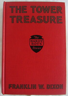 Hardy Boys #1 The Tower Treasure Franklin W Dixon 3rd Print Red Book COPY DJ