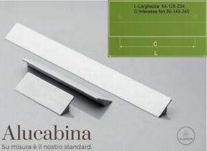 Maniglie Cucina Moderna.Dettagli Su Maniglia Maniglietta Moderna In Alluminio Per Cassetti Mobili Armadi Cucina