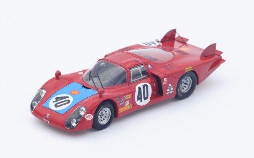 Alfa Romeo 33 2  40 Casoni-Biscaldi  Le Mans  1968 (Spark 1 43   S4368)
