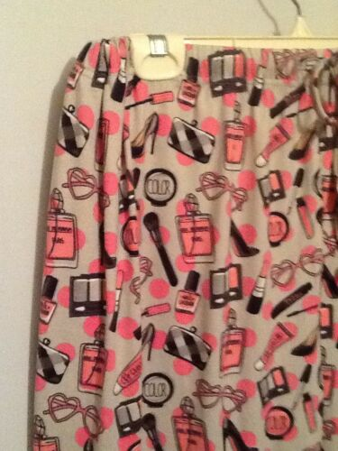 PRIMPIN Pajama LONG Pant Cozy Couture Super Soft  PINK Knit VALENTINE LOVE NWT