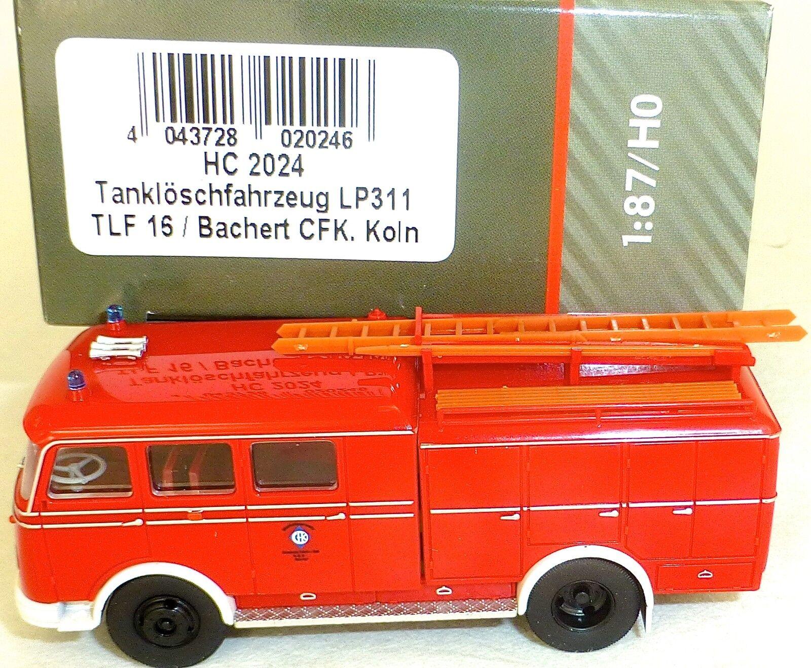 Tanklöschfahrzeug LP311 TLF16 TLF16 TLF16 Bachert CFK Köln HEICO HC2024 OVP NEU µ e04e04