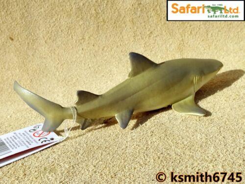 NEW * Safari LEMON SHARK solid plastic toy wild FISH sea marine animal