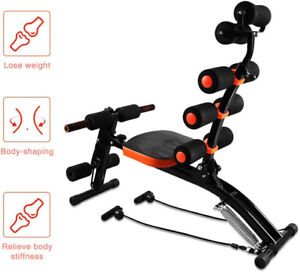 Abdominal Trainer Core Abs Rocket Exercise Chair with Foam Roller Home Fitness
