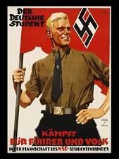 WW2 - Photo Affiche de recrutement allemande - Der Deutsche Student