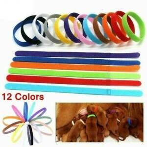 12x-Whelping-ID-Identification-Bands-Litter-Puppy-Kitten-Pet-Dog-Collar-Band