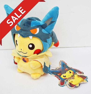 Pokemon Center Plush Doll Poncho Pikachu Mega Lucario Ver. F-186597