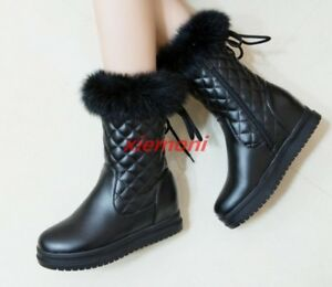 New-Warm-Winter-Womens-Snow-Boots-Fur-Lining-Shoes-Boots-Stylish-New-amp-Fashion