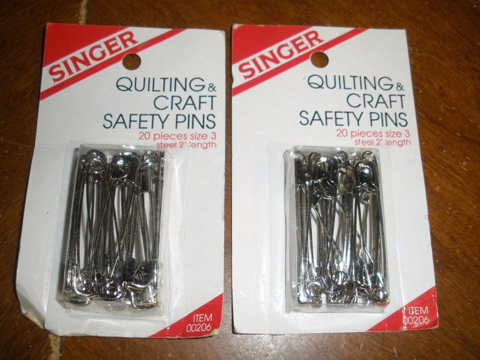 Singer Notions 00206 Quilting /& Craft Safety Pins-Size 3 20//Pkg