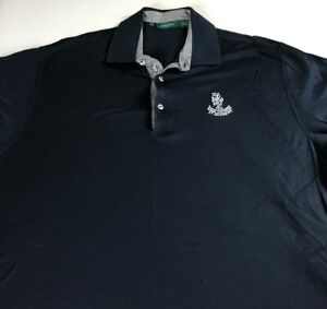 St-Andrews-Polo-Shirt-Mens-XL-Golf-Course-Navy-Blue-The-Old-Course-Cotton-Links