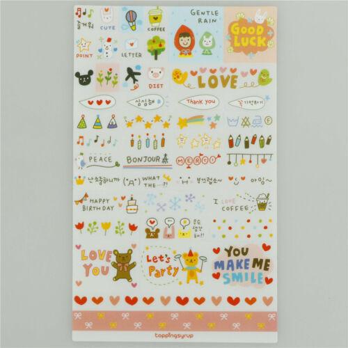 6Pcs//set Simple Life Stickers For DIY Scrapbooking Planner Cardmaking/_Journaling