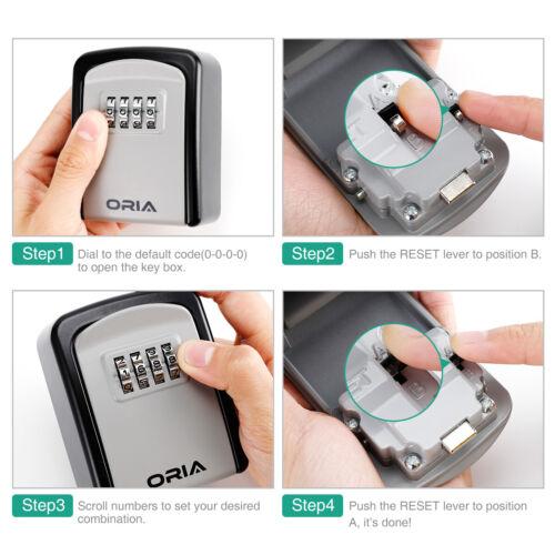 5 Keys Padlock 4/&Digit Combination Key Lock Storage Code Password Security Box