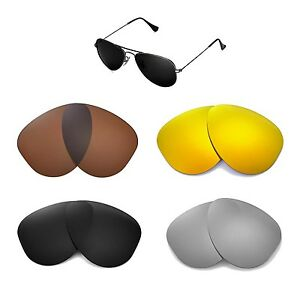 0d7472392f Walleva Replacemen t Lenses for Ray-Ban Aviator RB3044 52mm - Multi ...