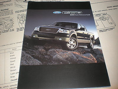 ford    factory quick reference owners manual