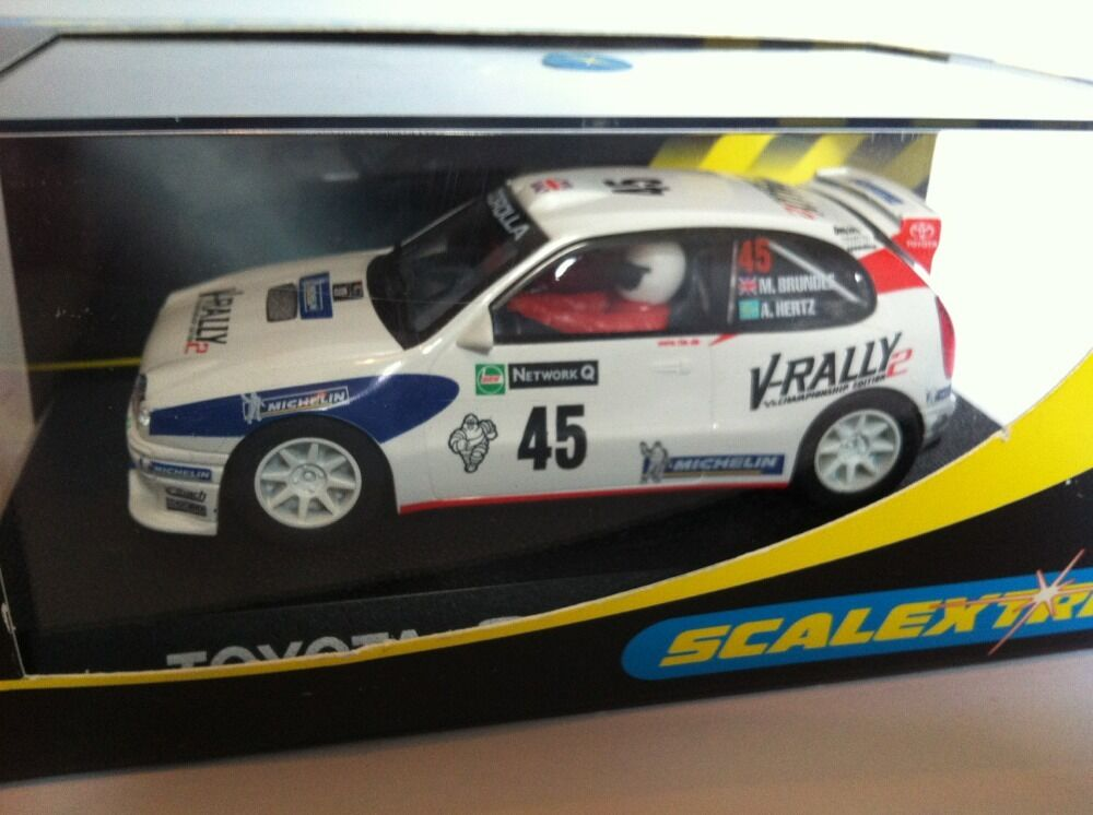 Scalextric C2183 Toyota Corolla V - Rally No 45 M Brundle a Hertz