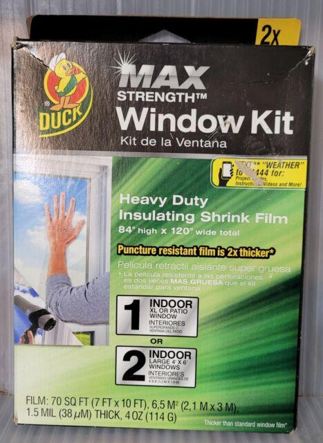 "DUCK Max Strength Window Kit 84"" x 120"" Heavy Duty Clear Insulating Shrink Film"