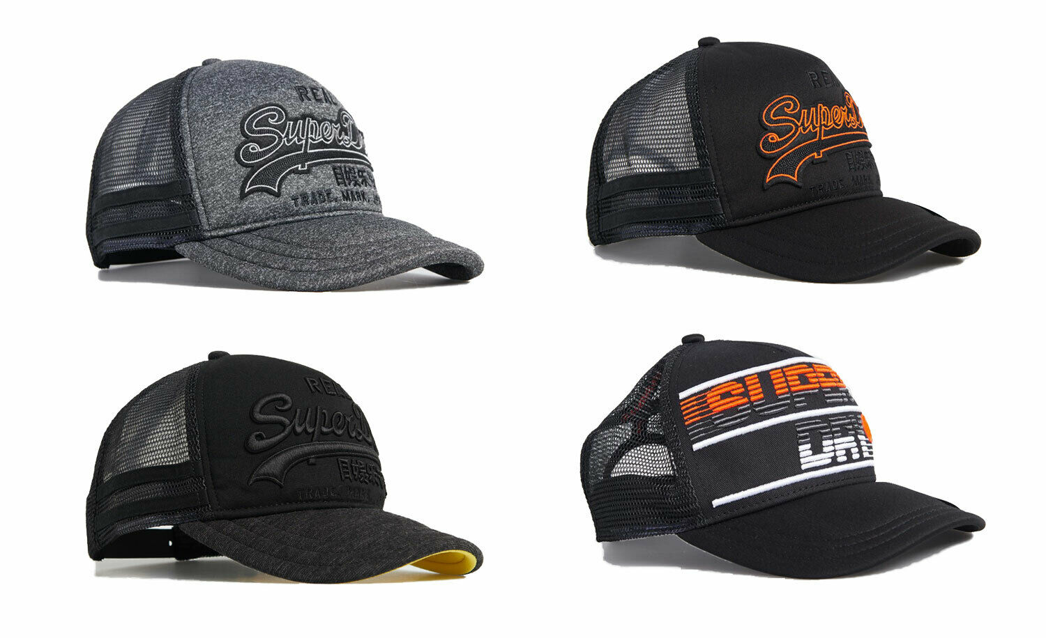 Classic Baseball Cap,PrestonPlayz-Art Adjustable Two Tone Cotton Twill Mesh Back Trucker Hats Black