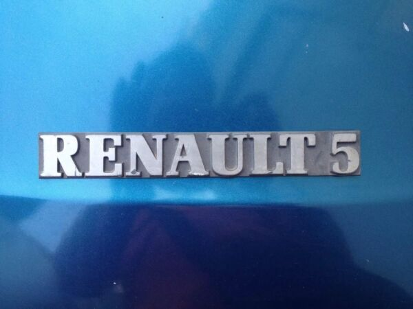 Adattabile Fregio Stemma Logo Ant.opost Originale Renault 5 1-2* Serie Tecnologie Sofisticate