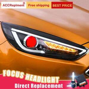 Image Is Loading 2pcs For Ford Focus Headlights Embly Bi Xenon