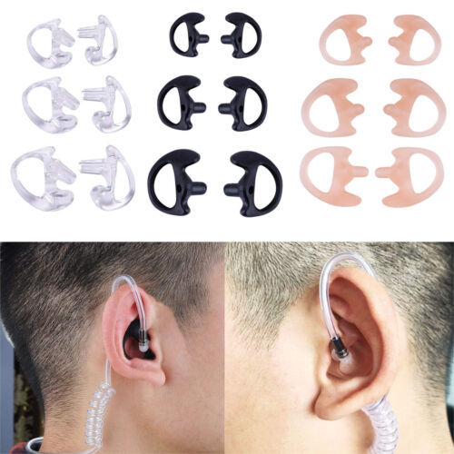 S//M//L Two Way Radio Ear Mold Earpiece Soft Insert for Acoustic Coil Tube Earbud