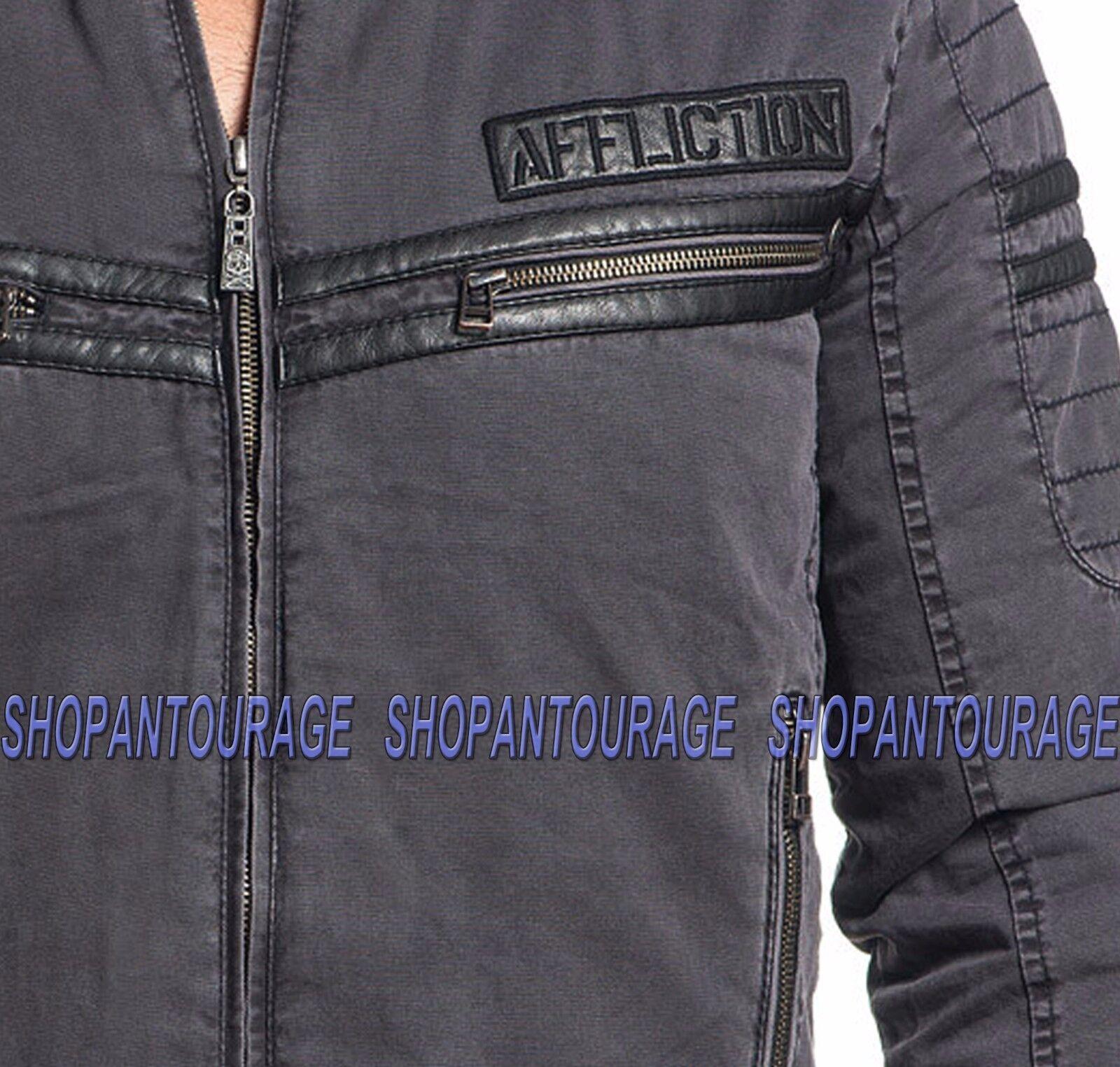 Affliction California Speed 110OW273 New Black Fashion Moto Jacket for Men