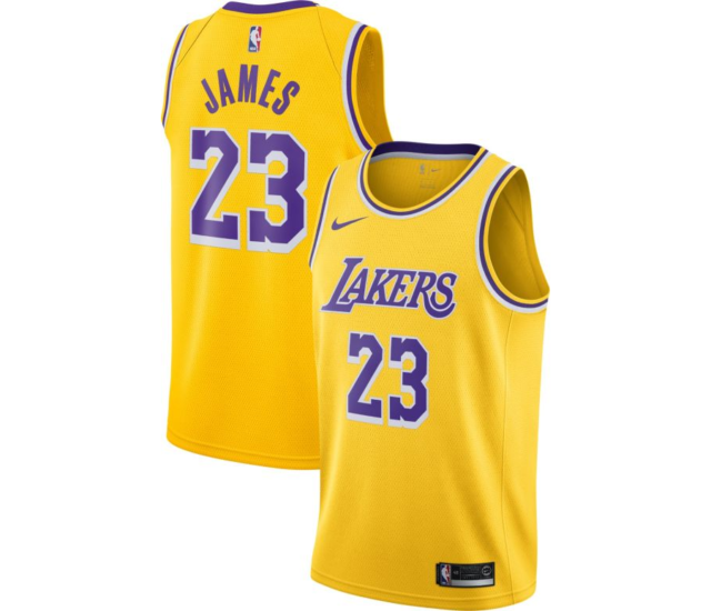 Nike Men's Los Angeles Lakers Lebron James Icon Edition Jersey Aa7099 741 XL