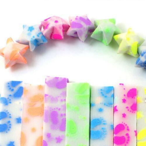 210x Luminous Paper Strips Origami Folding Lucky Star Ribbons Girl Craft Gifts