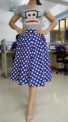 PLUS SIZE Hepburn Vintage Retro 50s High Waist Pleated Full Circle Swing dress
