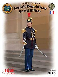 q ICM 16004 - French Republican Guard Officer (Scala 1/16) - Italia - L'oggetto può essere restituito - Italia